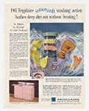 1961 Frigidaire Pink Custom Imperial Washer Dryer Bear Print Ad (20758)