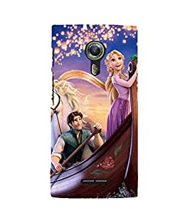 Printvisa Premium Back Cover Princess Sailing With The Prince Design For Alcatel Onetouch Flash 2::Alcatel One touch Flash 2