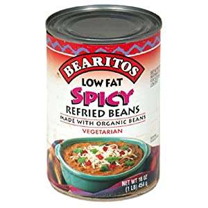 Bearitos Refried Beans Spicy Vegetarian 16-ounce Cans Pack Of 12 by BEARITOS