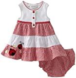 Youngland Baby-Girls Infant Ladybug Colorblock Seersucker Sundress