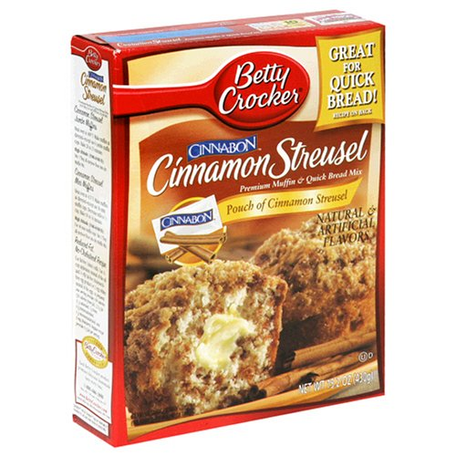 Betty Crocker Premium Muffin Mix, Cinnamon Streusel, 15.2-Ounce Boxes (Pack of 12)