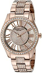 Kenneth Cole New York Women's KC0029 Transparency Analog Display Japanese Quartz Rose Gold Watch