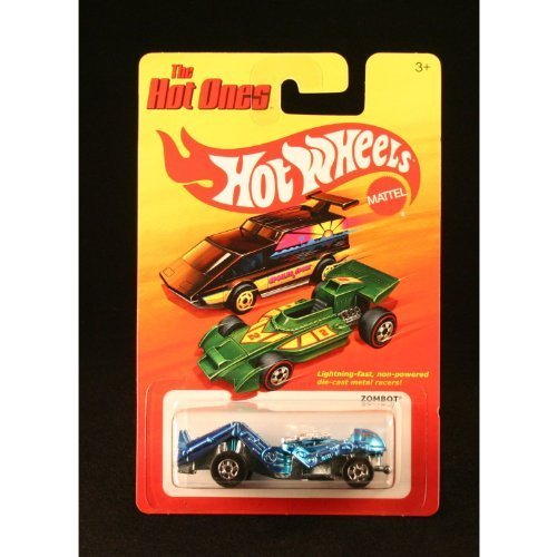 ZOMBOT (BLUE) * The Hot Ones * 2011 Release of the 80's Classic Series - 1:64 Scale Throw Back HOT WHEELS Die-Cast Vehicle