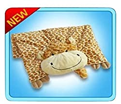 The Original My Pillow Pets Giraffe Blanket (Yellow And Tan)