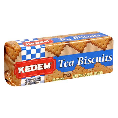 Kedem Tea Biscuits, Plain, 4.2-Ounce Packages (Pack of 24)