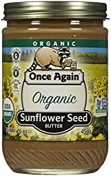 Once Again Organic Smooth Sunflower Butter, 16 oz