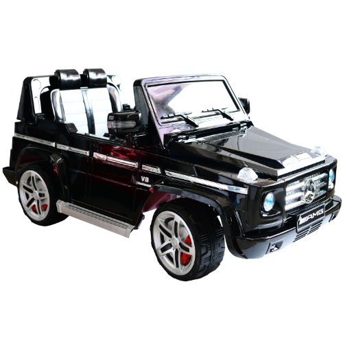 Mercedes-Benz G55 Kids 12V Electric Ride On Toy Truck w/ Parent Remote Control - Black