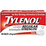 Tylenol Regular Strength Tablets, 100 Count (Pack of 2)