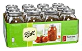 Ball Regular Quart Jars with Lids and Bands, Set of 12