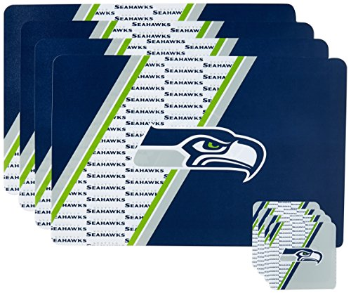 NFL Seattle Seahawks Placemat Coaster Set