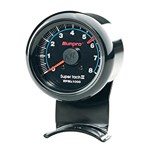 sunpro cp7906 mini tachometer ii black automotive