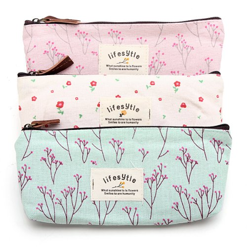 Countryside-Flower-Floral-Pencil-Pen-Case-Cosmetic-Makeup-Bag