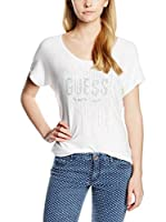 GUESS Camiseta Manga Corta (Blanco)