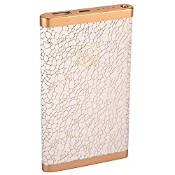 Maxxlite 6000mAh Ultra Slim Luxury Fashion Style Power Bank - White