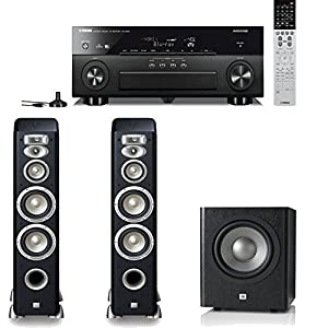 Yamaha RX-A840 7.2-Channel Network AVENTAGE Home Theater Receiver Plus A JBL Studio 2.1 High Performance Home Speaker System (L880 & Sub 250P)