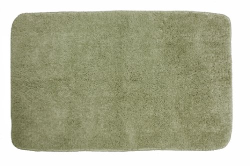 J & M Home Fashions Microfiber Bath Rug, 20-Inch by 33-Inch, Sage Green
