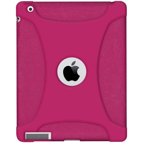 Imagen de Silicona Jelly Funda Skin Fit Amzer para Apple iPad 2 y iPad 3 - Rojo