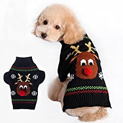 Tiny Small Dog Puppy Sweater Clothes Christmas Reindeer Pattern (XS) from Generic