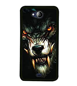 Fuson Premium 2D Back Case Cover Ferocious LION With Red Background Degined For Micromax Canvas Play Q355