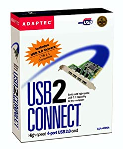 Adaptec 2000300 USB 2.0 4PORT Card Kit