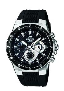 CASIO EF-552-1AVEF Edifice - Reloj de caballero de cuarzo, correa de resina color negro (con cronómetro, luz) por Casio