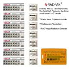 ☢ RadPak7 - Nuclear Radiation Protection for 7 people. Includes Iosat Potassium Iodide, RADTriage Radiation Detector and decontamination wipes for hands and surfaces.