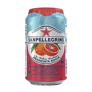 San Pellegrino Sparkling Fruit Beverages, Aranciata Rossa/Blood Orange 11.15-ounce cans (Total of 24)