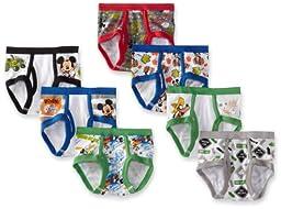 Handcraft Little Boys\' Mickey 7 Pack Brief, Multi, 4T