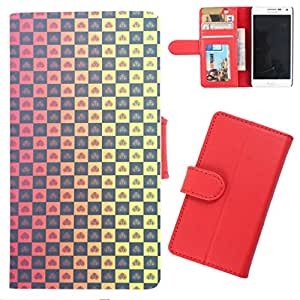 DooDa - For Nokia Lumia 430 Dual Sim PU Leather Designer Fashionable Fancy Wallet Flip Case Cover Pouch With Card, ID & Cash Slots And Smooth Inner Velvet With Strong Magnetic Lock