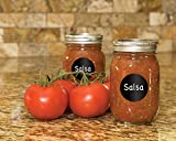 Colore Chalkboard Labels - Perfect Stickers For Mason Jars, Water & Wine Bottles, Food Can & Container - FREE Door Tag - Black Round Shape - 3 Sheets