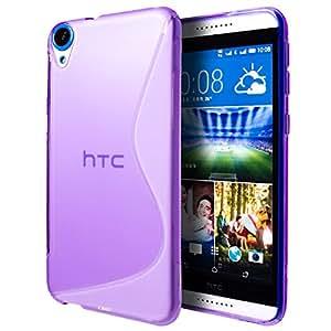 HTC Desire 820 Case, Cimo [Wave] Premium Slim TPU Flexible Soft Case For HTC Desire 820 (2014) - Purple