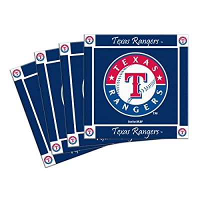 MLB Texas Rangers 4-Pack Ceramic Coasters