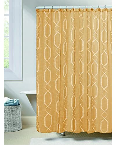 Duck River Textile Arcadia Shower Curtain, Amber