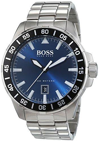 Hugo Boss-Reloj de pulsera hombre Deep Ocean analógico de cuarzo Acero inoxidable 1513230