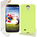 HoraDeals(TM) Candy Style Soft Gel TPU Rubber Skin Case Cover For Samsung Galaxy S4 SIV (i9500), Lemon Green Jelly, Including One Microfiber Clean Cloth