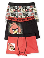 3 Pack Cotton Rich Angry Birds™ Trunks