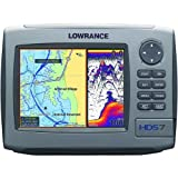 Lowrance HDS-7 7-Inch Waterproof Marine GPS and Chartplotter with 83/200HZ transom mount transducer (Enhanced U.S. Basemap)