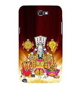 Tirumala Venkanna 3D Hard Polycarbonate Designer Back Case Cover for Samsung Galaxy Note 2 :: Samsung Galaxy Note 2 N7100