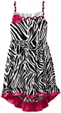 Rare Editions Girls 7-16 Zebra Print High Low Dress