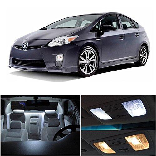 Toyota Prius 2010-2014 Xenon White Premium Led Interior Lights Package Kit (10 Pieces)