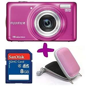 Fujifilm T400 Rose Appareil Photo Numérique + 4GB + etui (16MP, zoom optique 10x) 3 pouces écran LCD