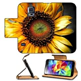 Nature Flowers Flora Sunflowers Pretty Samsung Galaxy S5 SM-G900 Flip Cover Case with Card Holder Customized Made to Order Support Ready Premium Deluxe Pu Leather 5 13/16 inch (148mm) x 2 1/8 inch (80mm) x 5/8 inch (16mm) MSD S V S 5 Professional Cases Accessories Open Camera Headphone Port LCD Graphic Background Covers Designed Model Folio Sleeve HD Template Designed Wallpaper Photo Jacket Protector Micro SD Wireless Cellphone Cell Phone