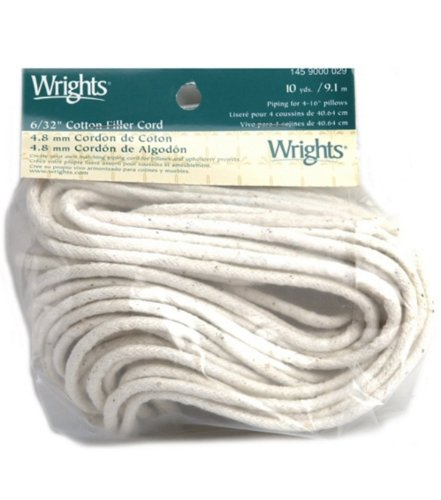 Cotton Filler 6/32 Inch Cord - 10 yds.