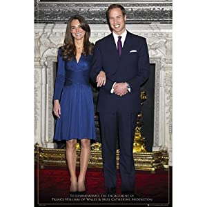 General Posters: A Royal Engagement - Will And Kate - 35.7'x23.8'