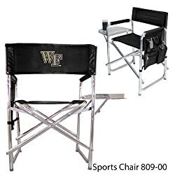 Wake Forest Demon Deacons Portable Folding Sports Chair - Black w/Embroidery