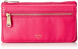 Fossil Preston Flap Wallet, Bright Pink, One Size