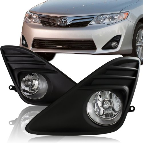 2012 2013 toyota camry chrome housing black bumper cover. Black Bedroom Furniture Sets. Home Design Ideas