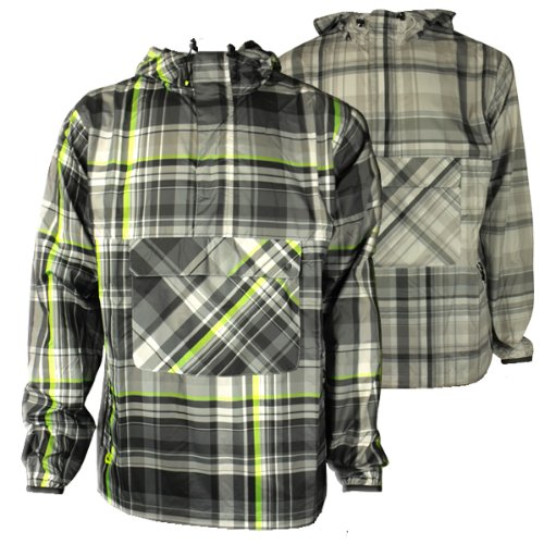 Mens Nike Plaid Wind Jammer Jacket Rain Retro Running Training Coat Size S-XXL