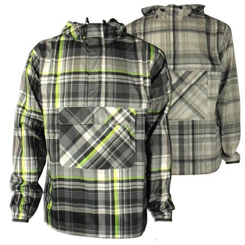 Mens Nike Plaid Wind Jammer Jacket Rain Retro Running Training Coat Size S-XXL