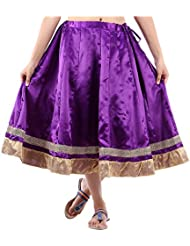 Sunshine Enterprises Women's Satin Wrap Skirt (Purple)